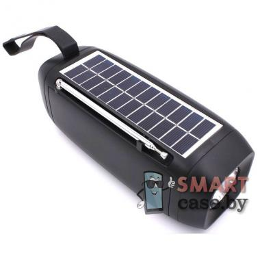 Портативная колонка Profit S18 Bluetooth + FM + USB + TF Card+солнечная батарея (Чёрная)
