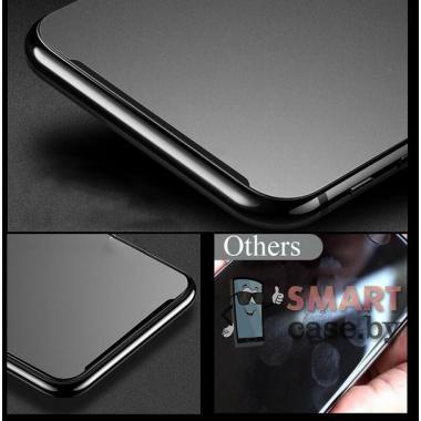 Защитное матовое стекло для iPhone 12/12 Pro 9D,9H, 0.33mm (Чёрное)