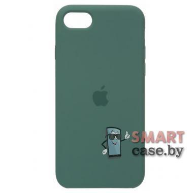 Силиконовый чехол для iPhone 7/8 Silicone Case (Хвойный лес)