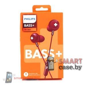 Наушники Philips BASS+ с гарнитурой (красные)