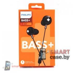 Наушники Philips BASS+ с гарнитурой (черные)