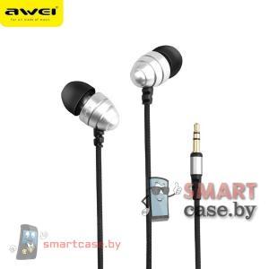 Наушники Awei ES-Q2 (металлик)