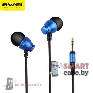 Наушники Awei ES-Q6 (синие)