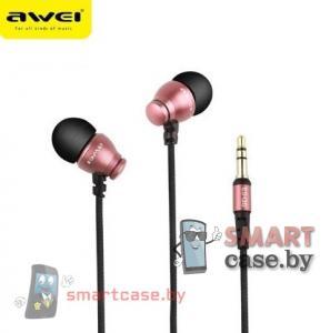Наушники Awei ES-Q6 (розовое золото)