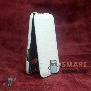 Чехол-блокнот Armor для HTC One 2 (белый крокодил)