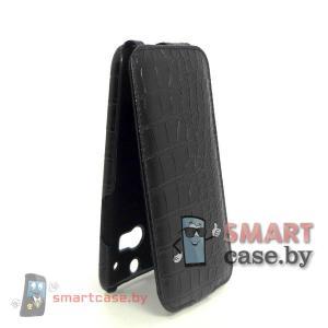Чехол-блокнот Armor для HTC One M8 (черный крокодил)