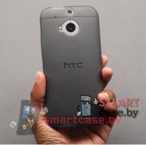 Чехол для HTC One M8 силиконовый ультратонкий (темный)