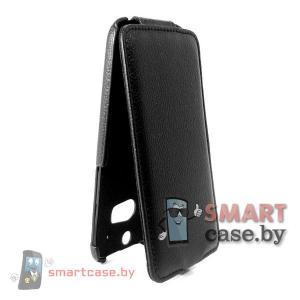 Кожаный чехол флип для HTC One 2 M8 Armor (черный)