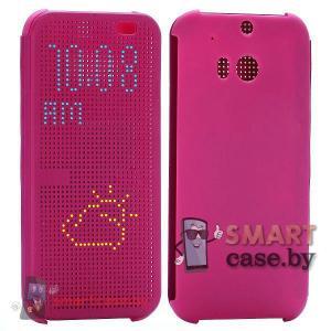 Умный чехол Dot View для HTC ONE 2 M8 (Пурпурный, копия)