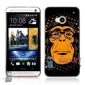 Алюминиевый чехол для HTC One M7 (обезьян)