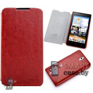 Чехол флип для HTC One M7 KLD (коричневый)