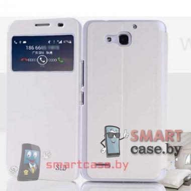Чехол стенд с окном для Huawei Honor 3X (G750) Sulada (белый)