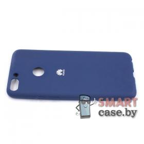 Силиконовый матовый чехол для Huawei P Smart (синий)