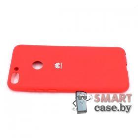 Силиконовый матовый чехол для Huawei P Smart (красный)