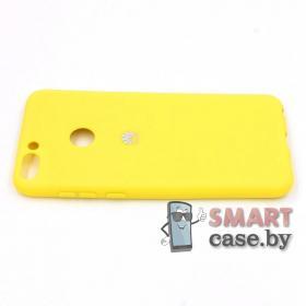 Силиконовый матовый чехол для Huawei P Smart (жёлтый)