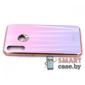Стеклянный чехол для Huawei P30 Lite (Розовый перелив)