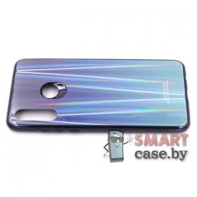 Стеклянный чехол для Huawei P30 Lite (Синий перелив)