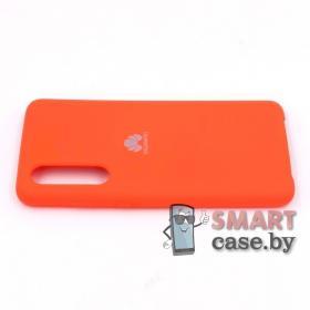 Силиконовый чехол Silicone Cover для Huawei P30 (Оранжевая фуксия)
