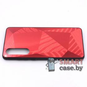 Стеклянный чехол для Huawei P30 3D (Красный)