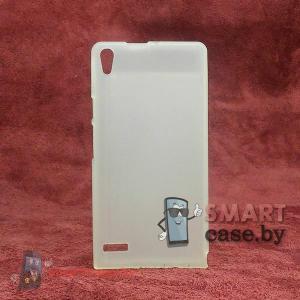 Чехол - накладка для Huawei Ascend P6 (прозрачный)