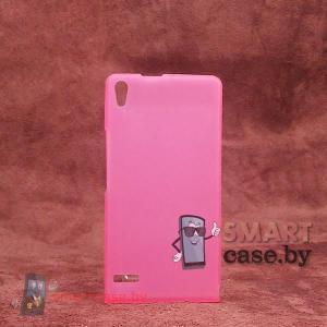 Чехол - накладка для Huawei Ascend P6 (розовый)