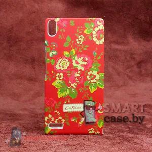 Чехол - накладка для Huawei Ascend P6 Cath Kidston (красный в цветы)