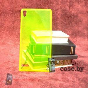 Ультратонкий силиконовый чехол для Huawei Ascend P6 (желтый)