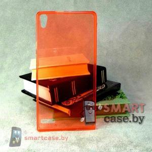 Ультратонкий силиконовый чехол для Huawei Ascend P6 (красный)