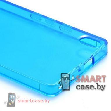 Чехол накладка для Huawei Ascend P6 (голубой)