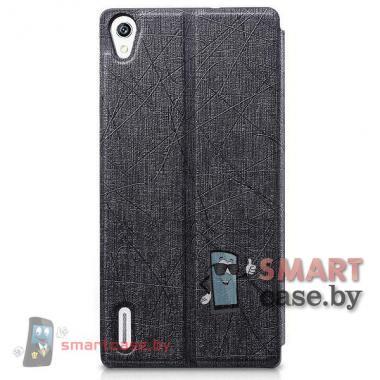 Чехол стенд с окном для Huawei Ascend P7 TakeFans (черный)