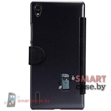 Чехол флип с окном для Huawei Ascend P7 Nillkin (черный)