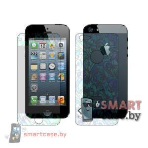 Передняя и задняя защитные пленки для iPhone 5 (3D облака)