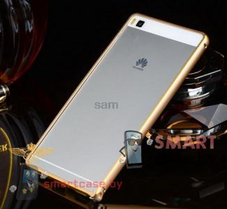Алюминиевый бампер для Huawei Ascend P8 (Золотой)