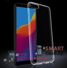 Чехол для Huawei Y5 Prime 2018, Honor 7A силиконовый прозрачный