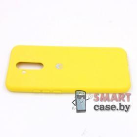 Силиконовый матовый чехол для Huawei Mate 20 Lite (Жёлтый)