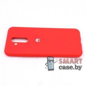 Силиконовый матовый чехол для Huawei Mate 20 Lite (Красный)