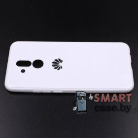 Силиконовый глянцевый чехол для Huawei Mate 20 Lite (Белый)