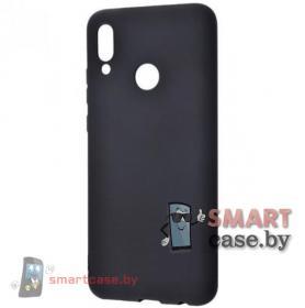 Чехол силиконовый для Huawei P Smart 2019, Honor 10 lite (черный матовый)