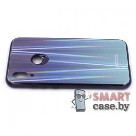 Стеклянный чехол для Huawei P Smart 2019 (Синий)