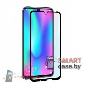 Защитное стекло для Huawei P Smart 2019 полная проклейка 6D (Черный)