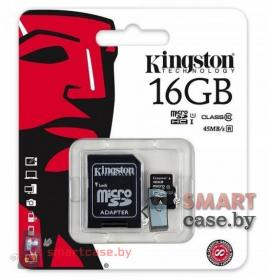 Карта памяти MicroSD Kingston 16GB 10 class
