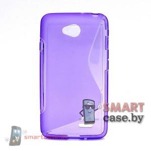 Чехол накладка для LG L 70 силиконовая (Фиолетовый)