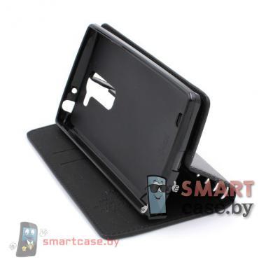 Чехол книжка для LG Magna PU-кожа (черный)