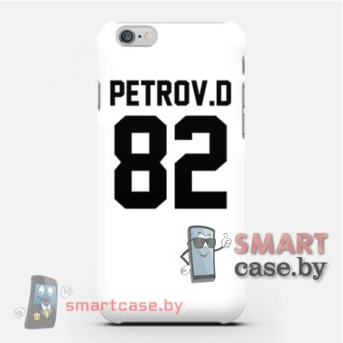 Чехол с именем для HTC Desire 600 печать на заказ (белый)