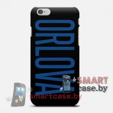 Именной чехол для iPhone 6 на заказ с вашим текстом (черный)