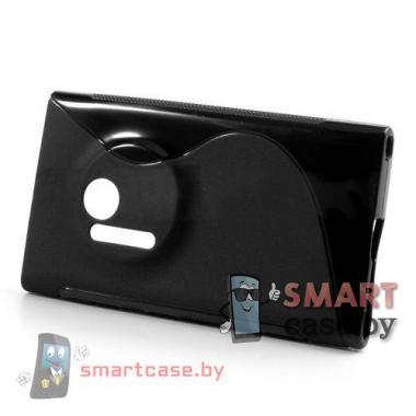 Чехол накладка для Nokia Lumia 1020 S-shape (черная)