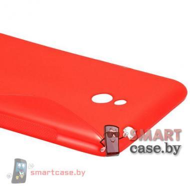 Силиконовый чехол для Nokia Lumia 1320 S-line (малиновый)