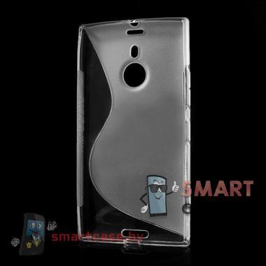 Чехол накладка для Nokia Lumia 1520 S-shape (прозрачная)