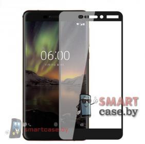 Защитное стекло для Nokia 6.1 на весь экран (Черный)