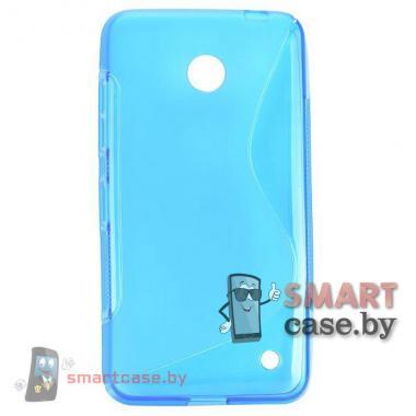 Чехол накладка для Nokia Lumia 630 S-shape (бэбиблю)